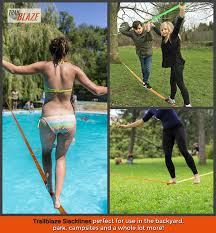 amazon com strongest quality slackline with training line tree