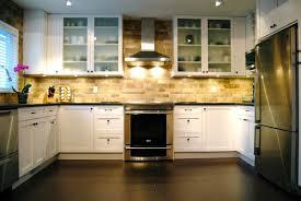 Kitchen Subway Backsplash Simple Kitchen Makeover Idea With Subway Backsplash Also Black