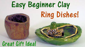easy polymer clay ring dishes a perfect gift youtube