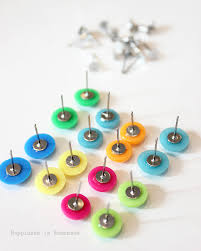 home made earrings diy candy button dot earrings happiness is
