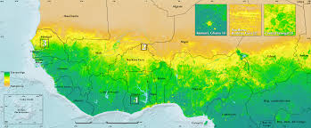 Sahel Desert Map Land Productivity West Africa