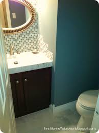 Powder Room Reno First Home Makeover January 2011
