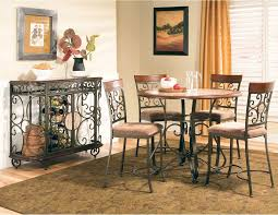 bar height dining room sets buy thompson round counter height dining table by steve silver