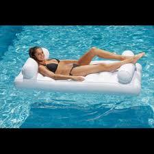 siege de piscine gonflable matelas gonflable pour piscine recto verso ultra confortable