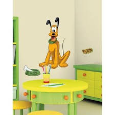 PLUTO GiaNT WALL DECALS Disney Mickey Mouse Dog Stickers Kids - Disney wall decals for kids rooms
