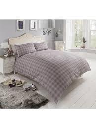 heather check flannelette duvet set ponden homes