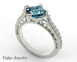 rings topaz images Princess cut swiss blue topaz engagement ring vidar jewelry png