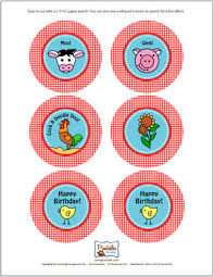 farm cake toppers farm cupcake toppers party printables by birthday party