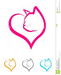 cat heart royalty free stock image image 36350096
