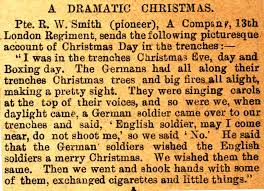the christmas truce 1914 13th battalion new contributions