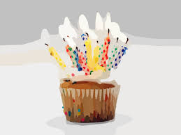 blurred birthday cupcake candles ppt backgrounds foods u0026 drinks