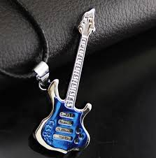 stainless steel guitar necklace images Buy 2017 mens new fashion guitar necklace cool jpg