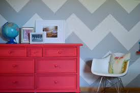 chevron and chalk paint