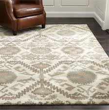 Area Wool Rugs Orissa Neutral Geometric Rug Crate And Barrel