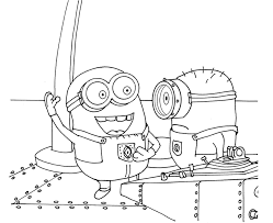 100 minions coloring page discouraged minion pig coloring page