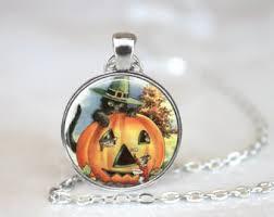 halloween necklace etsy