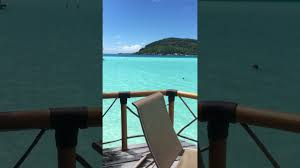 bora bora overwater bungalow tour youtube