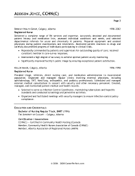 examples of registered nurse resumes resume example and free