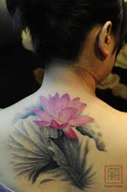 neck to shoulder tattoos 38 lotus tattoos for neck