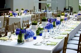 wedding table decoration ideas blue wedding party decoration
