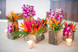 Vases For Bridesmaid Bouquets Tropical Flower Arrangements Rustic Wood Vases With Opal Bird Of