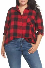 Womens Plaid Tops Blouses  Tees  Nordstrom