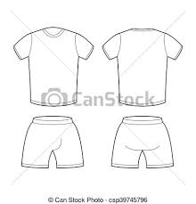 t shirt and shorts template for design sample for sports eps