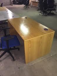 Office Desks Oak Used 1500mm Oak Office Desks Aline Office Furniture