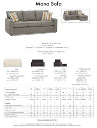 Couch Sizes by Mona Sofa Vermont Furniture Modern Design Contemporary Furniture