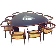 triangle dining room table triangle dining table set millennium 7 piece triangle pub table set