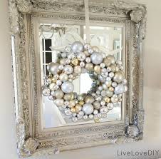 Metal Frame Christmas Decorations by White And Silver Christmas Ideas Livelovediy How To Make A
