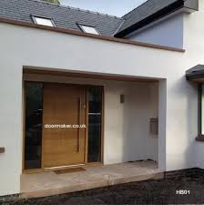 contemporary front doors entrance hall and garage room