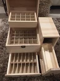 essential pine wooden storage box carry ebay