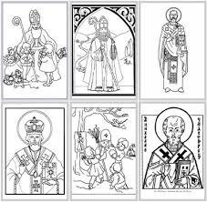 advent coloring pages catholic check st nicholas pizza