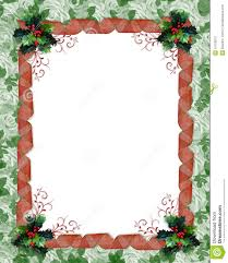 Invitation Card Border Design Christmas Border Ribbons And Holly Stock Photography Image 16709012