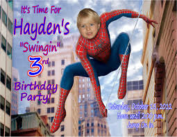 Free Spiderman Invitation Cards Spiderman Template Invitation