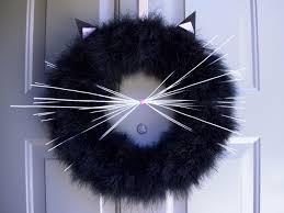 Pinterest Halloween Wreaths by Cat Wreath Halloween Cat Wreath Black Cat Wreath Fall Wreath