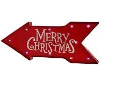 merry christmas sign 23 battery operated lighted color changing arrow merry