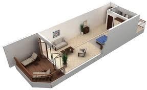 22 comfortable one bedroom apartment design in 3d plan