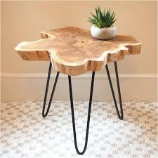 wood slice side table lovely wood slice coffee table awesome home design