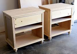 Build Wood End Tables by How To Build Diy Nightstand Bedside Tables