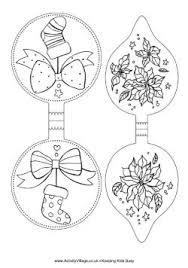 christmas ornaments colouring fun