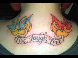 live laugh love tattoo design youtube