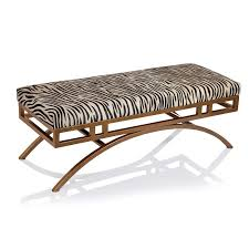 Zebra Side Table Zebra Hide Anti Gold Ottoman Bench