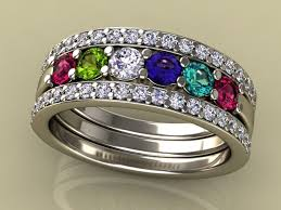 family birthstone rings mothers rings in gold platinum free shipping