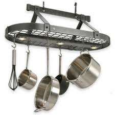kitchen pot racks with lights pot racks at kitchen accessories unlimited
