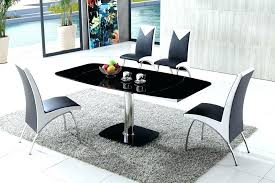 Black Glass Extending Dining Table Extendable Glass Dining Room Table Glass Extendable Dining Table