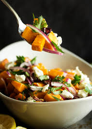 cold thanksgiving side dishes cold sweet potato salad with cranberries and pecans just a