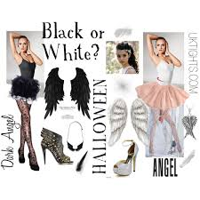 White Angel Halloween Costume Black White Halloween Costume Black White Halloween