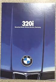 bmw 320i brochure original 1980 bmw 320i dealer sales brochure
